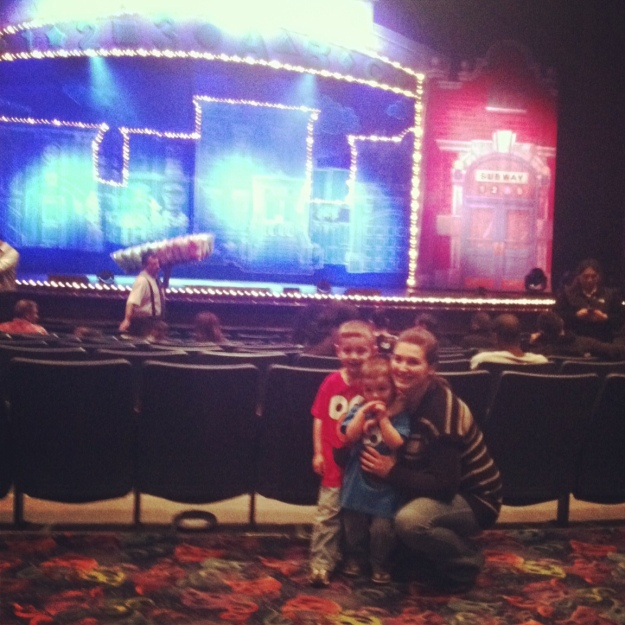 I'm fairly convinced the boys think the Sesame Street Friends live at the Rosemont Theater.